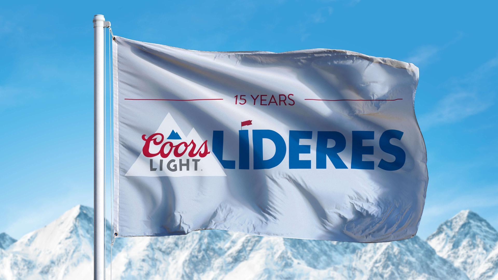Coors Light Lideres Flag